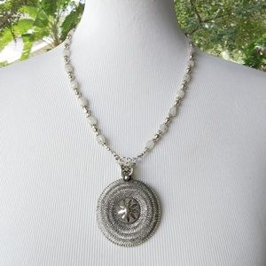 Nice vintage natural moonstone Necklace